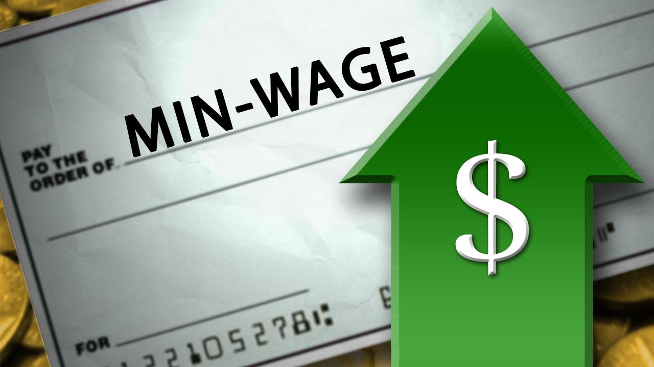 raise minimum wage to return to The raise the wage act would lift the ratio of the minimum to the full-time, full-year median wage to 602 percent if there is no real wage growth, or 576 percent if there is modest real wage growth.