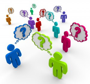 Many People Thinking of Questions